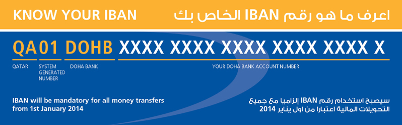 To Generate Iban Please Provide Doha Bank Account Number